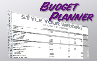 After having looked at loads of different budget planners, I created one that covers everything I think you might need. It's a useful little spreadsheet that we've been using for our wedding preparations and it has also been a handy reminder, almost like a to do list. I hope you find it useful!  Click on the picture below for budget planning awesomeness.