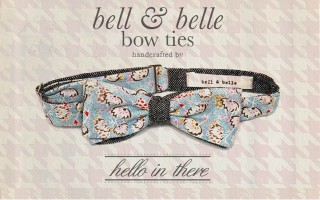 Bow ties are too cute! They have an elegant yet fun and quirky vibe, and when you include bright colours and untraditional fabrics, they become awesome! Say hello to Hello in There, who make these beautiful hand made Bell & Belle bow ties. As they are based in Scotland it's not surprising that they use tweed in some of their collections.   If you're a groom in need of a bow tie (or […]